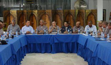 Policía evalúa y coordina acciones para garantizar seguridad ciudadana