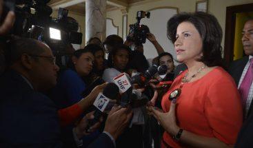 Margarita Cedeño dice casos de corrupción no afectan al PLD