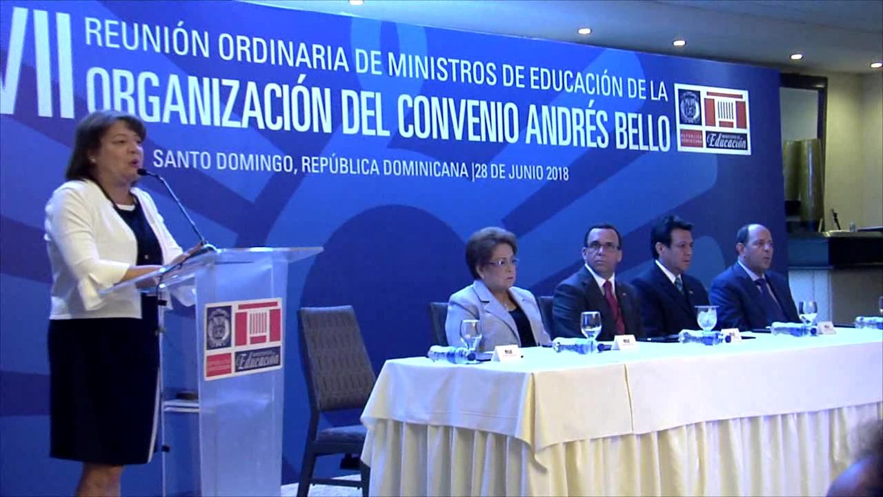 Navarro preside encuentro de ministros de Educación de la Organización del Convenio Andrés Bello