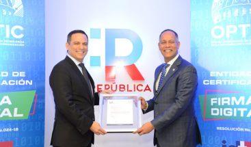 Indotel otorga a la OPTIC autorización para Certificación de Firma Digital
