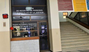 Oficina de registro de poderes y testamentos funciona en primer piso de Palacio de las Cortes del DN