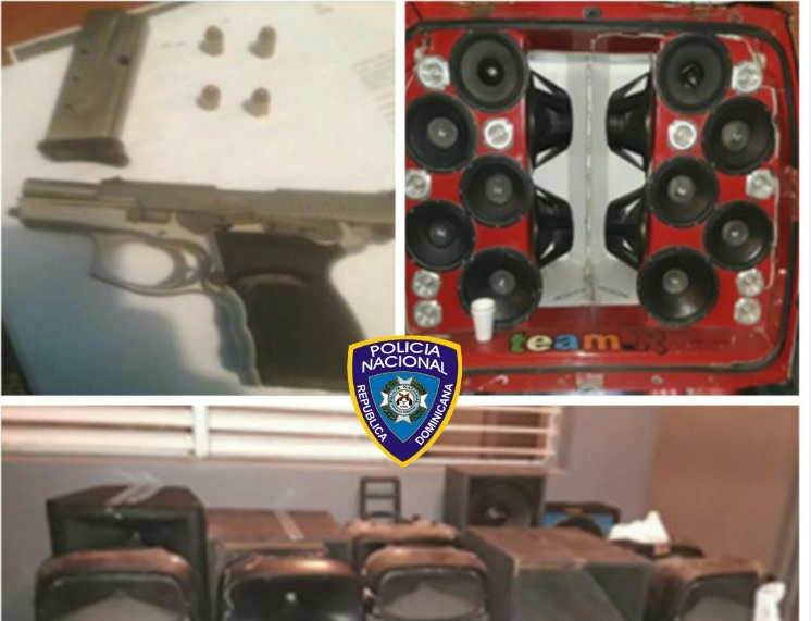 PN ocupa pistola, 15 bocinas y una hookah en operativo en SPM