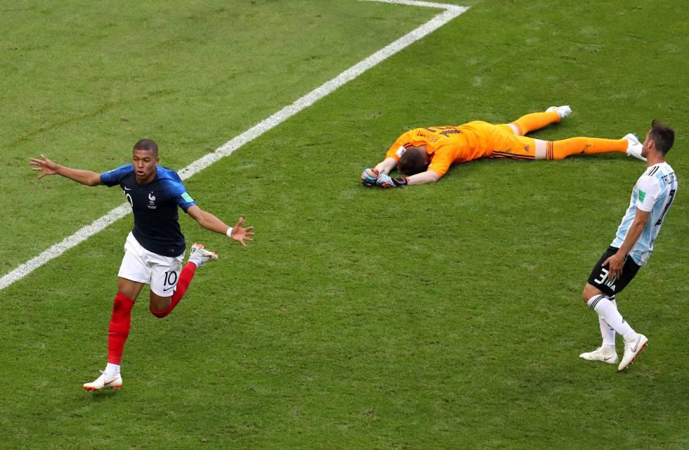 Francia elimina a Argentina con un brillante Mbappé y avanza a cuartos del Mundial