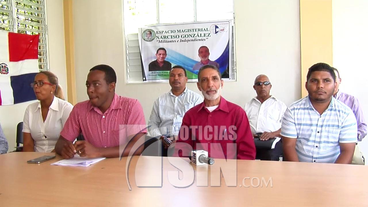 Corriente magisterial del ADP denuncia concluye año escolar con dificultades en Santiago