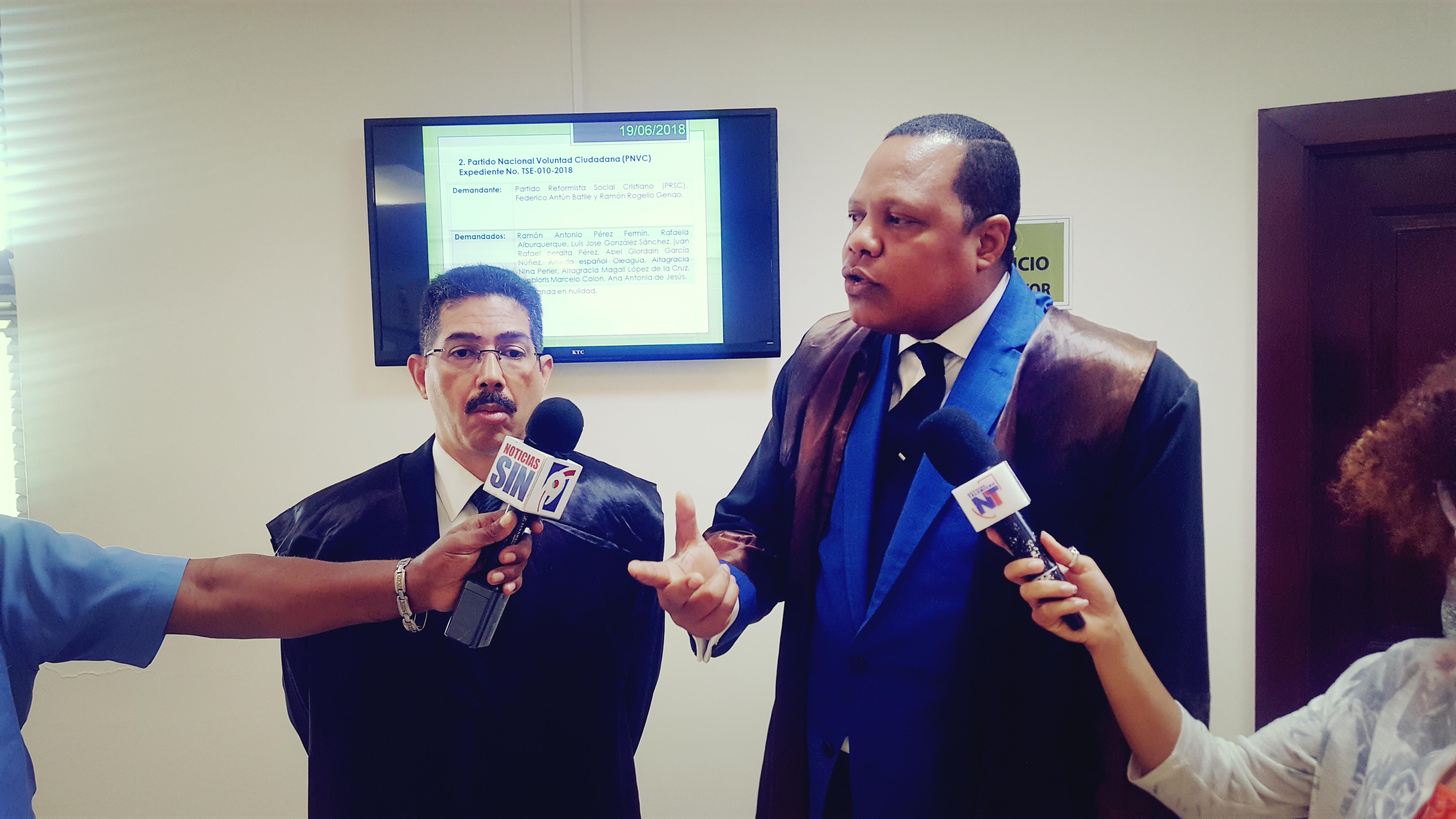 PRSC pide inhibición de dos jueces del TSE  por vínculos directos con dirigentes disidentes