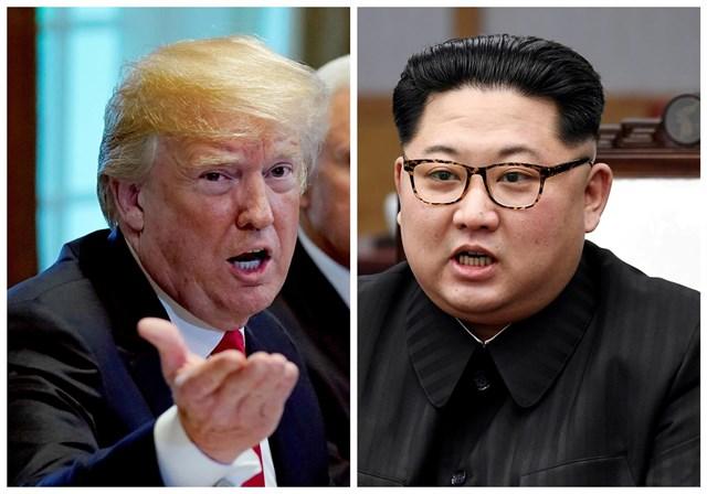 Trump llega al hotel donde se reunirá con Kim Jong-un