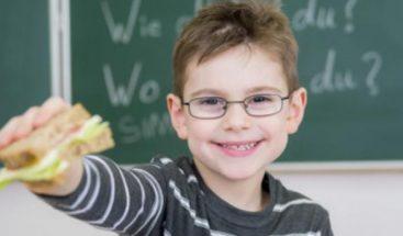 Los niños con una alimentación saludable mejoran sus notas escolares