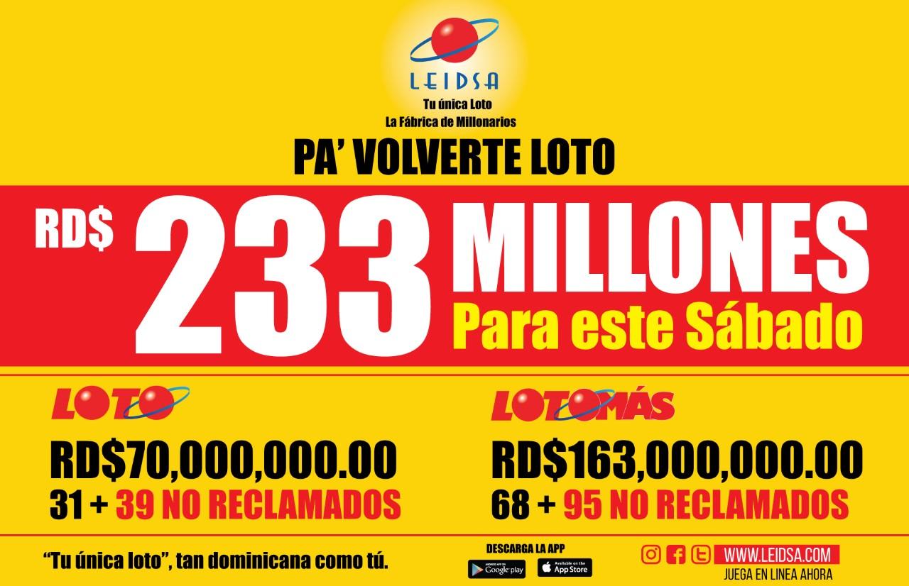 Leidsa suma los 134 millones no reclamado al acumulado