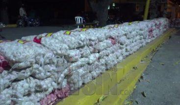Decomisan más de 400 sacos de ajo en Dajabón