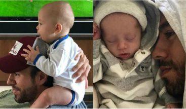 ¡Adorables! Enrique Iglesias y su bebé derriten las redes con un entrañable vídeo