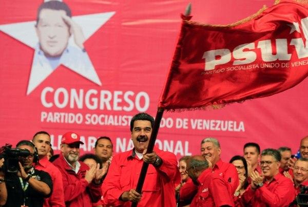 Maduro es ratificado como líder del PSUV por un periodo de cuatro años
