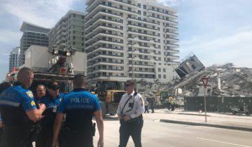 Al menos un herido al derrumbarse edificio en Miami Beach