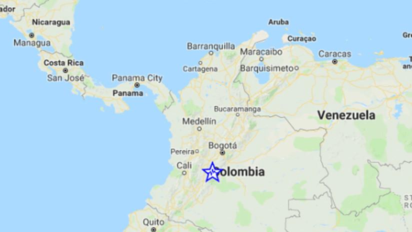 Se registra un sismo de magnitud 5,2 en Colombia