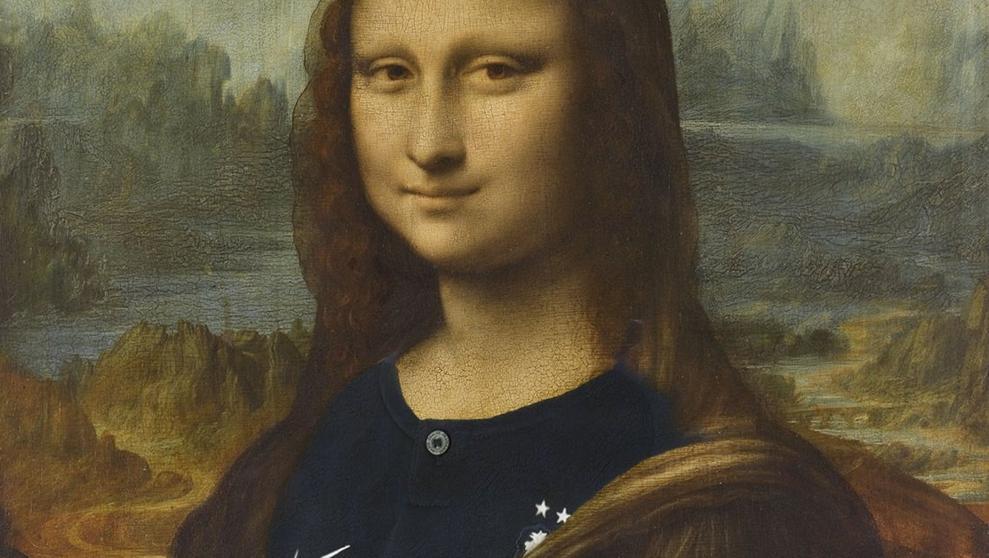 El Louvre desata la polémica tras poner la camiseta de Francia a 'La Gioconda'
