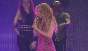 El mensaje de Shakira a Piqué en mitad del concierto en Barcelona