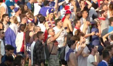 Franceses celebran su triunfo campeonato mundial de fútbol 2018