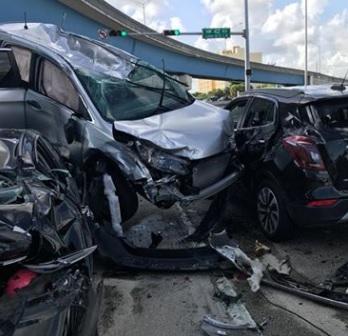 Accidente masivo en Hialeah; estuvieron involucrados siete vehículos