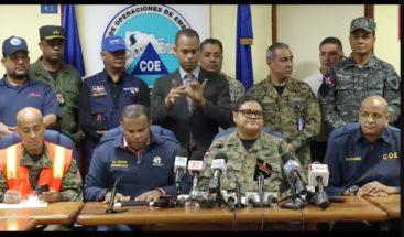 COE descontinúa el nivel de alerta en ocho provincias