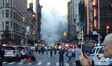 Cinco heridos y 28 edificios evacuados por explosión de tubería en Manhattan