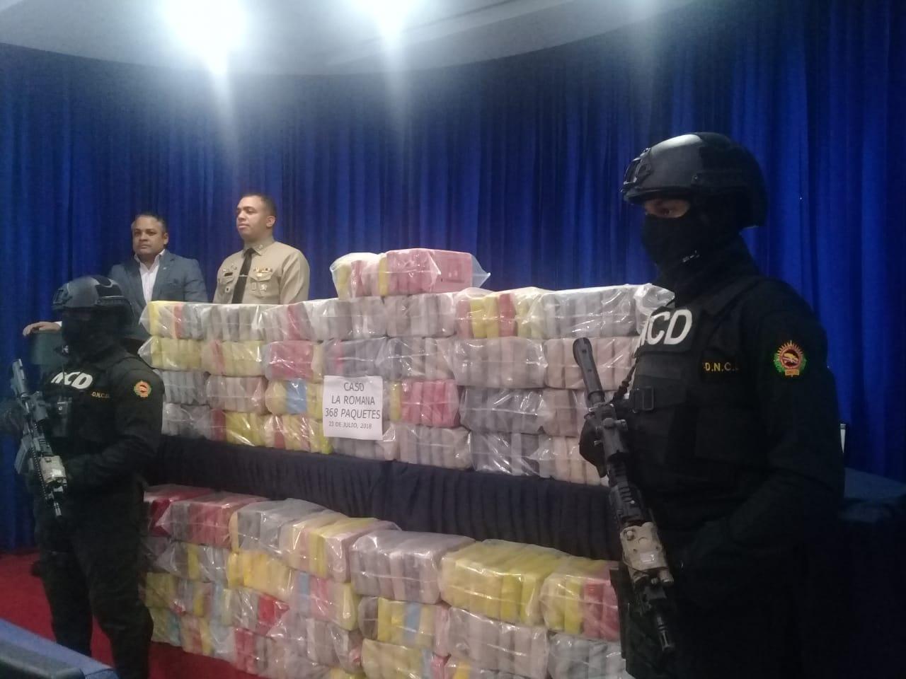 Incautan 368 paquetes de presumiblemente cocaína en La Romana