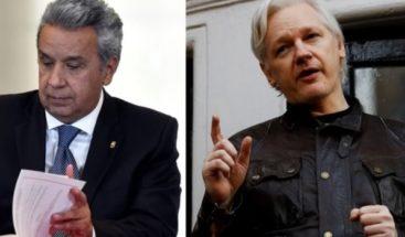 Lenín Moreno afirmó que Julian Assange tendrá que abandonar la embajada de Ecuador en Londres