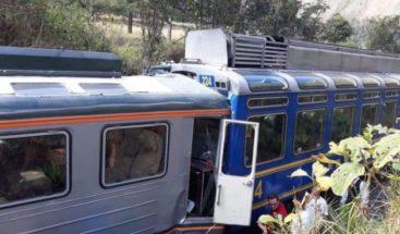Un choque de trenes en Machu Picchu deja al menos dos heridos