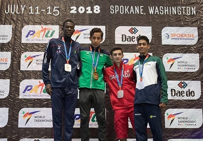 Luisito Pié gana medalla de plata en Open Panamericano de Taekwondo