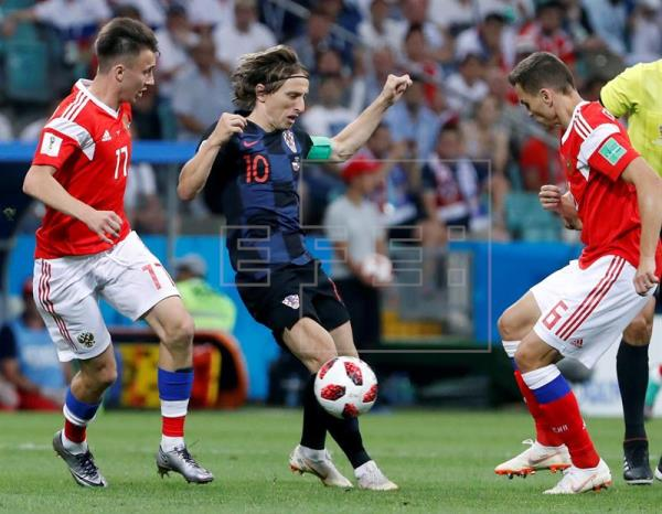 2-2 Croacia semifinalista tras derrotar a Rusia en los penaltis (3-4)