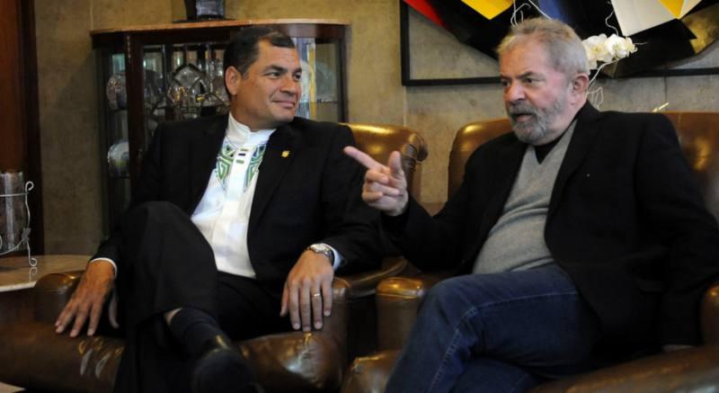 """Rafael Correa a Lula: """"Podrán encarcelar nuestros cuerpos pero no nuestros ideales"""""""