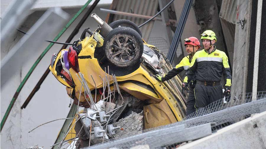 Identificados 19 de los fallecidos por el derrumbe de puente en Génova
