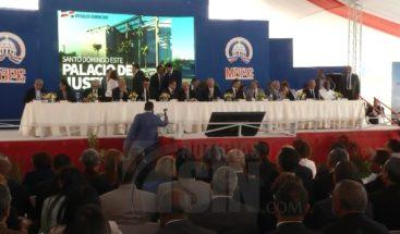 Presidente inicia por 2da. vez construcción de Palacio de Justicia SDE
