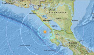 Sismo de magnitud 5,5 sacude el Pacífico de Nicaragua sin causar daños