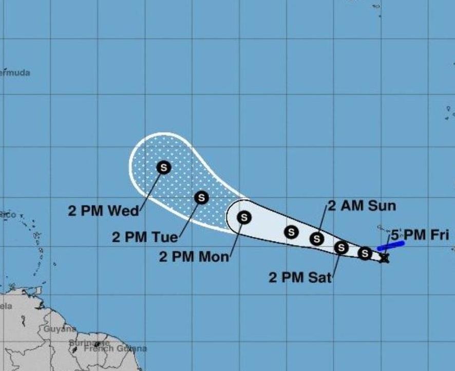 Se forma la sexta depresión tropical de la temporada en el Atlántico