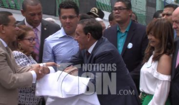 Inauguran parque en Cristo Rey con el nombre del doctor Cruz Jiminián