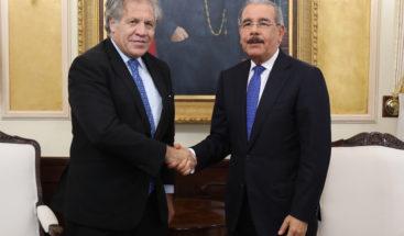 Medina recibe visita del secretario general OEA, Luis Almagro