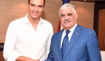 Canciller Miguel Vargas se reúne con presidente de España