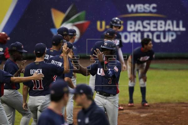 Estados Unidos le quita invicto a Panamá en el Mundial Sub'15 de béisbol