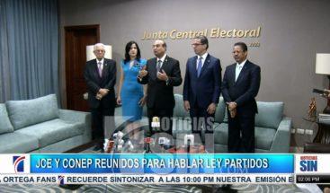 Junta Central y el Conep se reúnen para hablar de la Ley de Partidos
