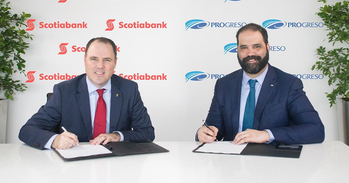Scotiobank formaliza acuerdo para adquirir el Banco del Progreso