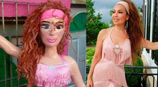 Crean piñata de Thalía y la cantante la pide por cumpleaños