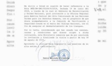 Nicaragua: Gobierno ordena salida de la ONU