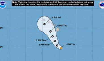 Peligroso huracán Lane alcanza categoría 5 se acerca a islas de Hawái
