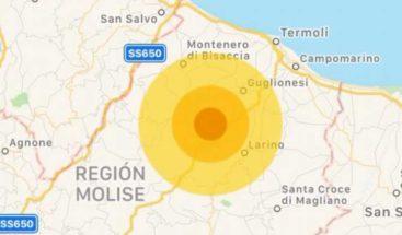 Un terremoto de magnitud 5,2 sacude la región central italiana de Molise
