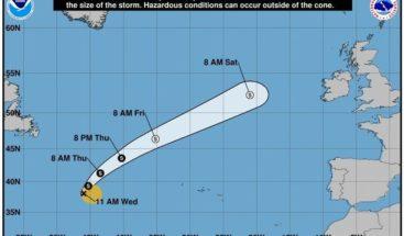 Depresión subtropical se transforma en tormenta en centro del Atlántico