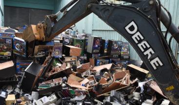 Hacienda destruye 3,278 equipos que operaban ilegalmente