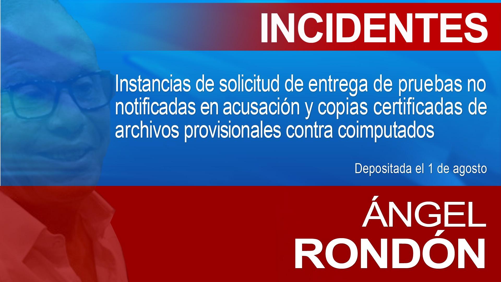 Incidentes imputados caso Odebrecht