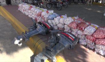 Decomisan más de 150 sacos de ajo en Montecristi