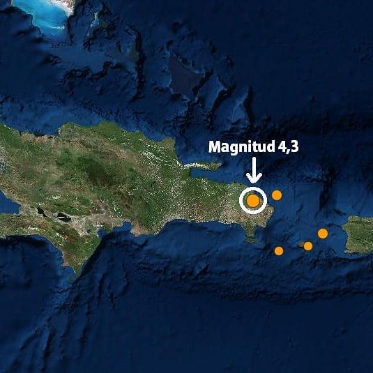 Temblor de 4,3 grados se registra en el Este del país