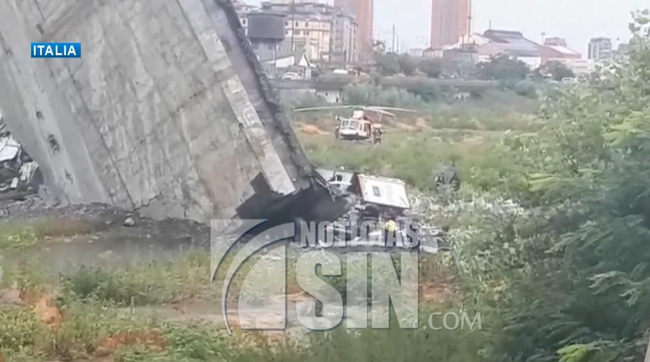 Al menos 35 personas mueren en Italia por desplome de puente