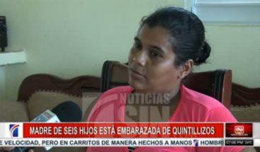 Madre de seis hijos está embarazada de quintillizos